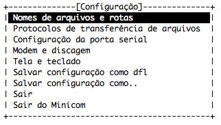 Minicom - Tela de Abertura